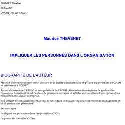 Mauris Thevenet - Impliquer les personnes dans l'organisation