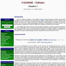 Chapitre 1 - CANDIDE de Voltaire