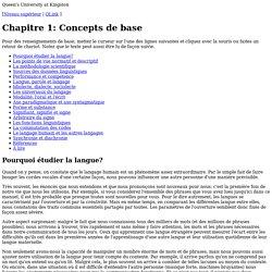 Chapitre 1: Concepts de base
