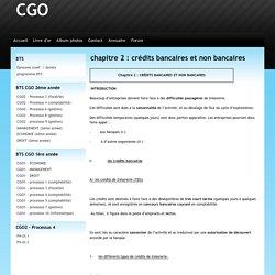chapitre 2 : crédits bancaires et non bancaires