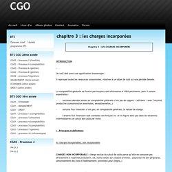 chapitre 3 : les charges incorporées