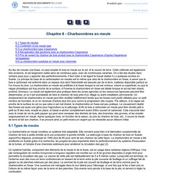FAO - Charbonnières en meule