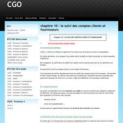chapitre 10 : le suivi des comptes clients et fournisseurs