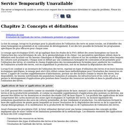 Chapitre 2: Concepts et définitions