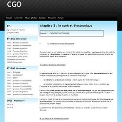 chapitre 2 : le contrat électronique