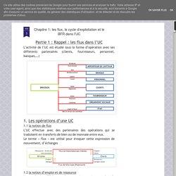 Chapitre 1: les flux, le cycle d'exploitation et le BFR dans l'UC
