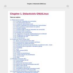 Chapitre1.Didacticiels GNU/Linux
