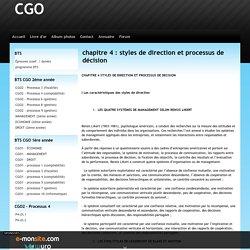 chapitre 4 : styles de direction et processus de décision