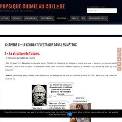 Chapitre II - Le courant électrique dans les métaux - Physique-Chimie au Collège