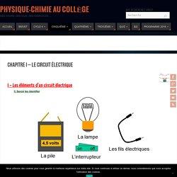 Chapitre I - Le circuit électrique - Physique-Chimie au Collège