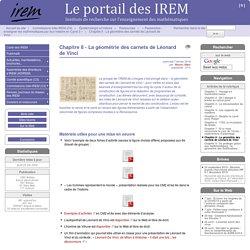 Chapitre 8 - La géométrie des carnets de Léonard de Vinci - Le portail des IREM