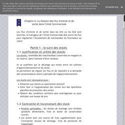 Chapitre 4: La Gestion des flux d'entrée et de sortie dans l'Unité Commerciale