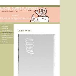 CHAPITRE II_Le matériau - Manuel d'arts plastiques tome 1