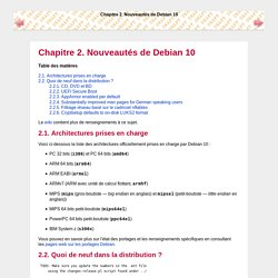 Chapitre2.Nouveautés de Debian10