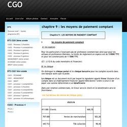 chapitre 9 : les moyens de paiement comptant