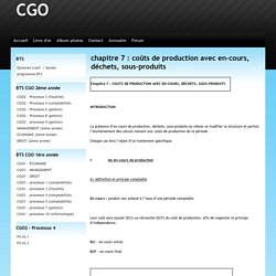 chapitre 7 : coûts de production avec en-cours, déchets, sous-produits