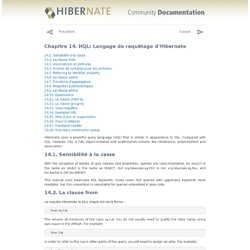 Chapitre14.HQL: Langage de requêtage d'Hibernate