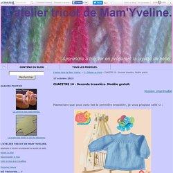 CHAPITRE 16 - Seconde brassière. Modèle gratuit. - L'atelier tricot de Mam' Yveline.