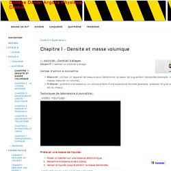 Chapitre 1 - Densité et masse volumique - Collège Daniel Argote Physique-Chimie