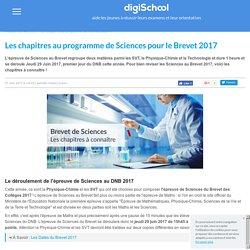 Chapitres au programme en Sciences - Brevet 2017