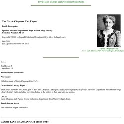 Carrie Chapman Catt Papers
