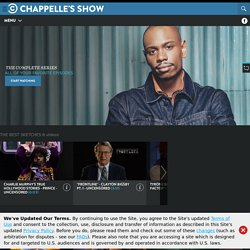 Chappelle's Show Official Site - groundbreaking sketch show