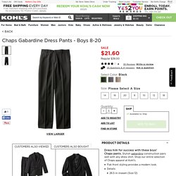 Chaps Gabardine Dress Pants - Boys 8-20