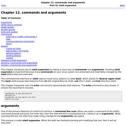 Chapter 12. commands and arguments