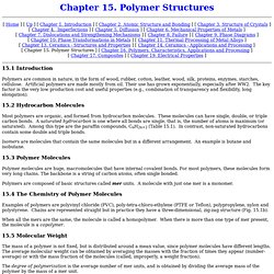 Chapter 15. Polymer Structures