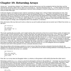 Chapter 19: Returning Arrays