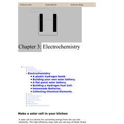 Chapter 3: Electrochemistry
