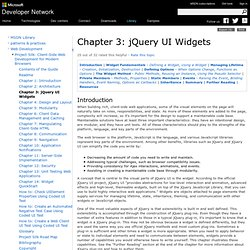 Chapter 3: jQuery UI Widgets