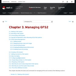 Chapter 3. Managing GFS2