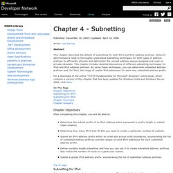 Chapter 4 - Subnetting