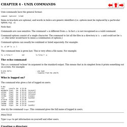 CHAPTER 4 UNIX COMMANDS
