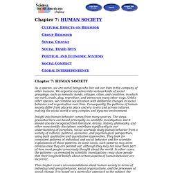 Chapter 7: Human Society