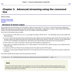 Chapter 3.  Advanced streaming using the command line