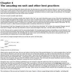 Chapter 4 The amazing em unit and other best practices