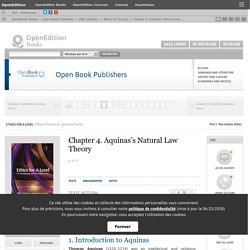 Ethics for A-Level - Chapter 4. Aquinas's Natural Law Theory - Open Book Publishers