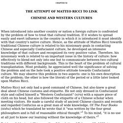 CHAPTER XI  THE ATTEMPT OF MATTEO RICCI TO LINK