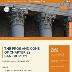 The Pros and Cons of Chapter 13 Bankruptcy