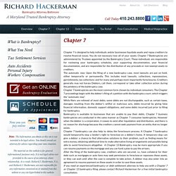 Chapter 7 – Bankruptcy Lawyers in Baltimore
