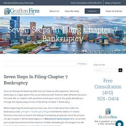 Seven Steps In Filing Chapter 7 Bankruptcy - Grafton Firm, LLC