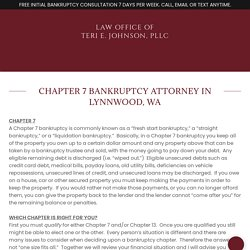 Chapter 7 Bankruptcy in Lynnwood, WA