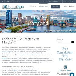 Chapter 7 Bankruptcy in Maryland
