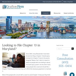 Chapter 13 Bankruptcy in Maryland
