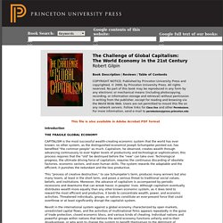 Sample Chapter for Gilpin, R.: The Challenge of Global Capitalism: The World Economy in the 21st Century.