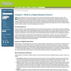 Chapter 1. What Is a Digital Breakout Game?
