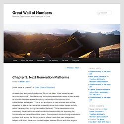 Chapter 3: Next Generation Platforms | Great Wall of Numbers