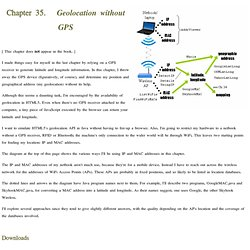 Chapter 35. Geolocation without GPS